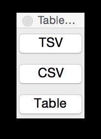 Table paste palette
